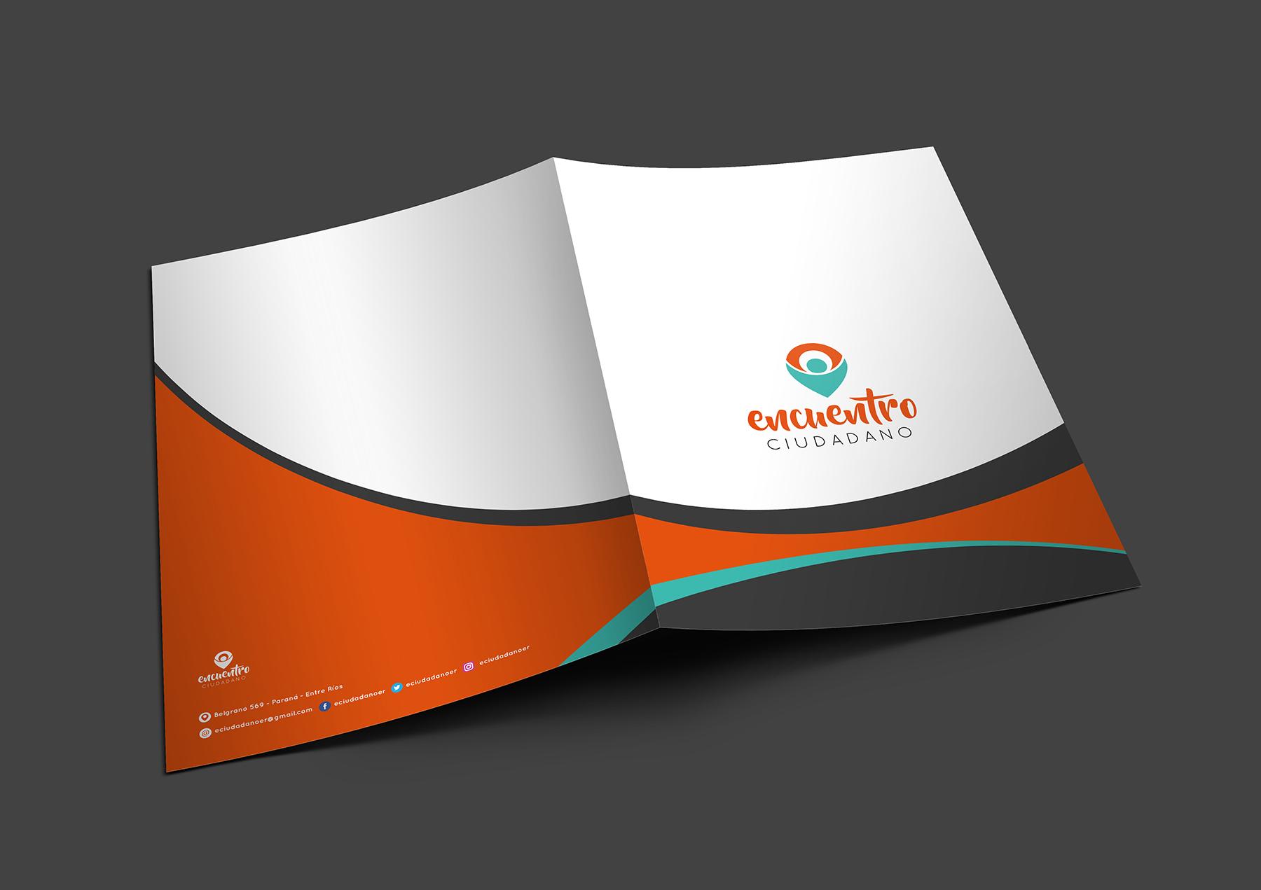 Sistema gráfico y papelería institucional carpeta