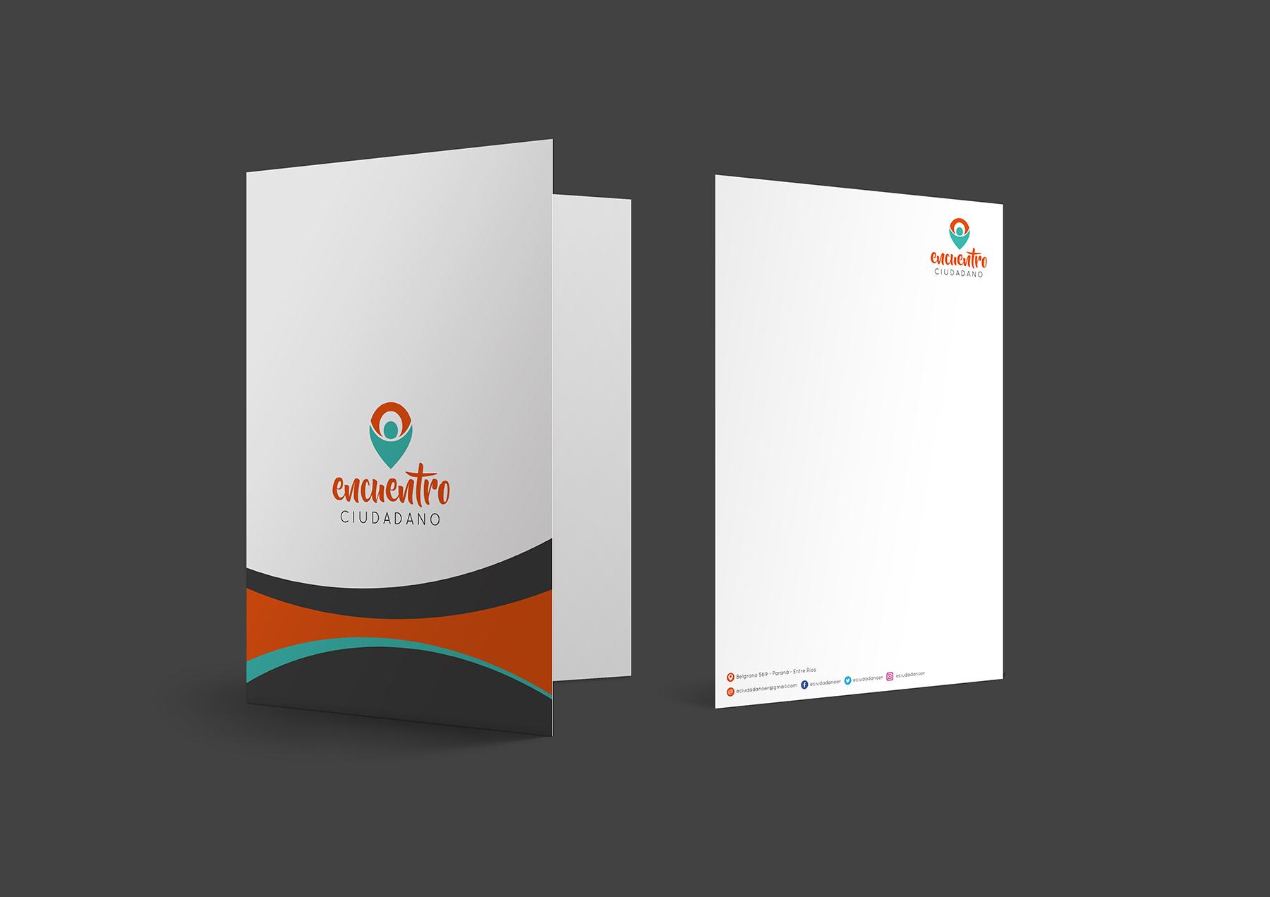 Sistema gráfico y papelería institucional - carpeta