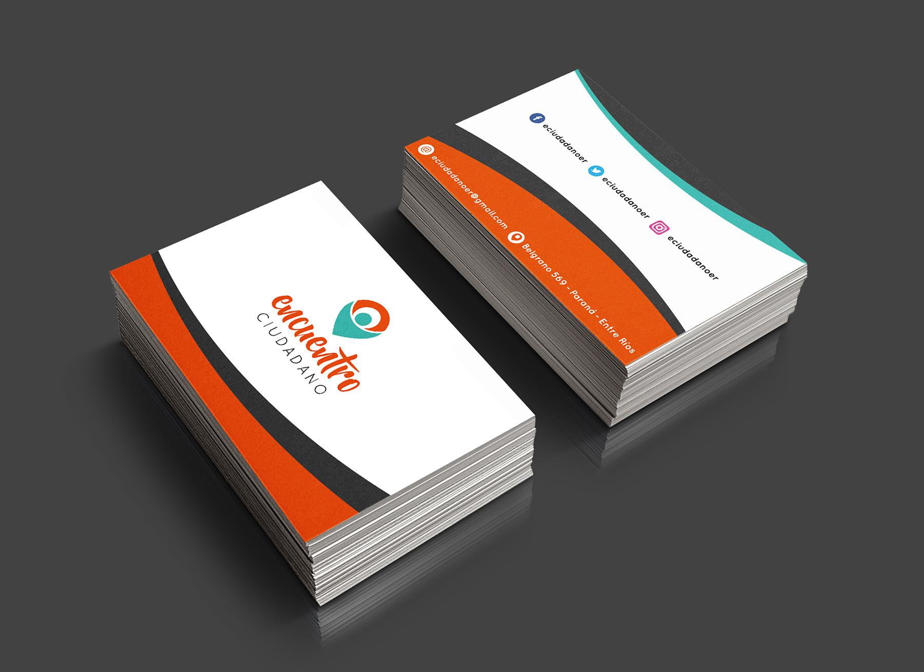 Sistema gráfico y papelería institucional - tarjetas